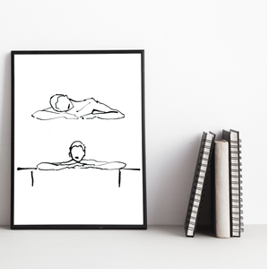 Dreaming Girls Ink  Print