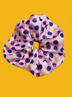 Free Matcha Geo Print Silk Twill Large Scrunchie-2 colors