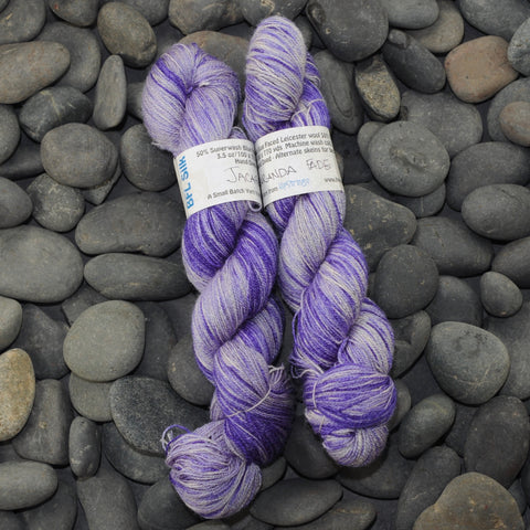 Jacaranda Fade on BFL Silk Lace- 100g