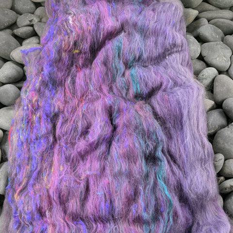 Advanced Marriage Counseling Hand Carded Batt - Merino Silk - 2 oz