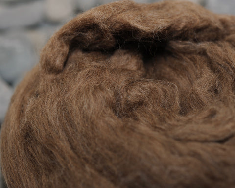 Brown Tibetan Yak Combed Top 4 oz