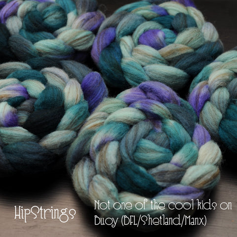 Not one of the cool kids - Hand Dyed Buoy (BFL/Shetland/Manx) Signature Blend - 4 oz