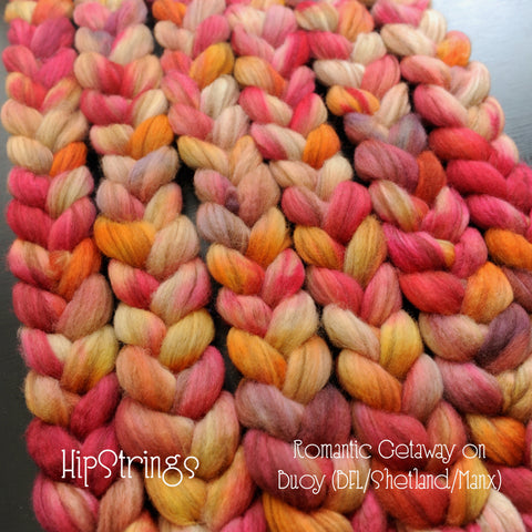 Romantic Getaway - Hand Dyed Buoy (BFL/Shetland/Manx) Signature Blend - 4 oz