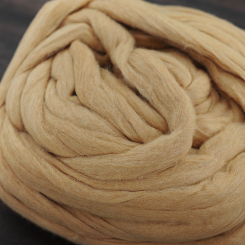 EZ Spin Natural Cinnamon Cotton Carded Sliver - 4 oz