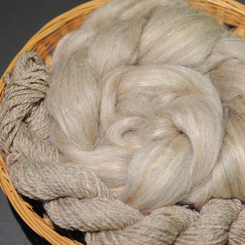Cream Colored Ponies - Shetland Silk Flax - 4 oz