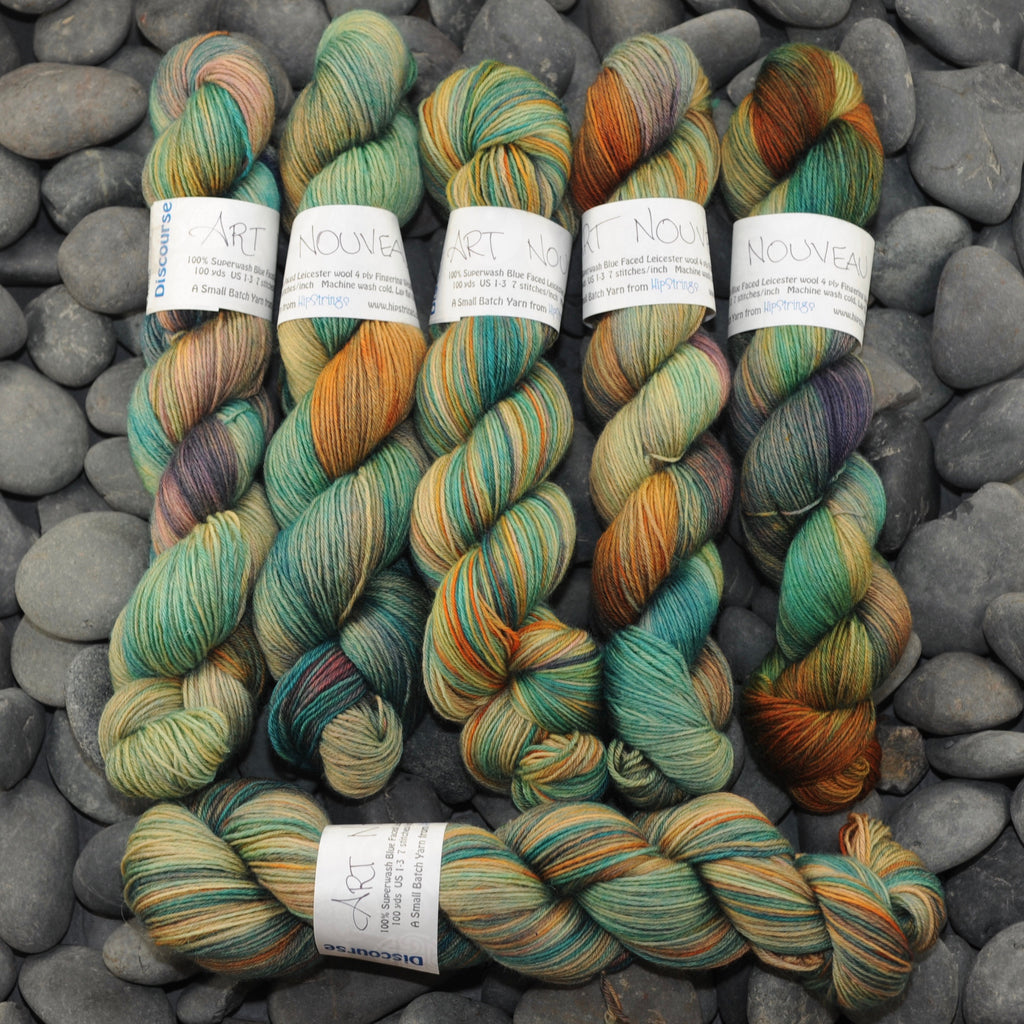Art Nouveau on Discourse SW BFL Sock Yarn