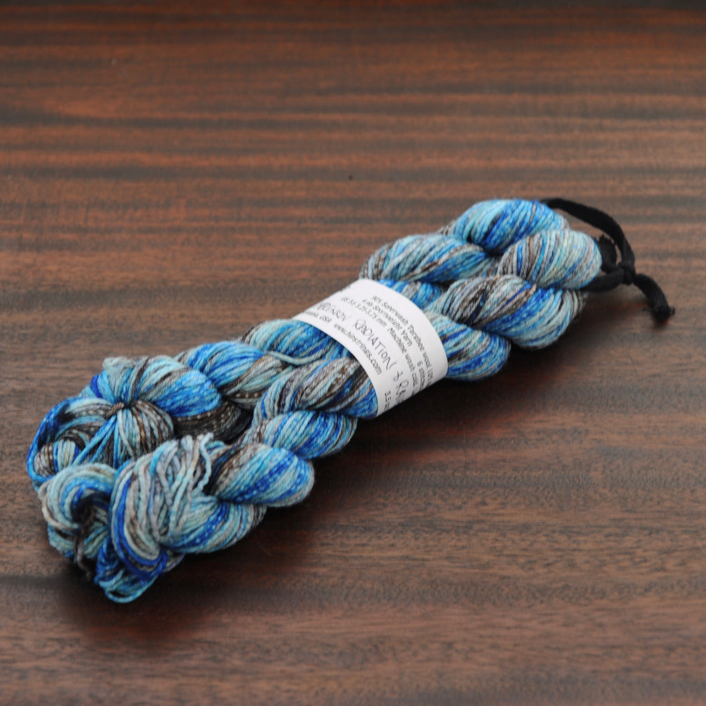 Raven & Cherenkov Radiation Double Major Targhee Sport Sock Yarn