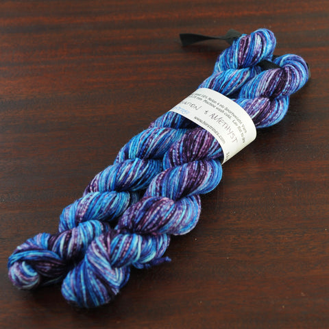 Cherenkov Radiation & Amethyst Double Major Targhee Sport Sock Yarn