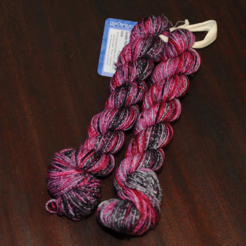 Raven & Fuschia Double Major Targhee Sport Sock Yarn