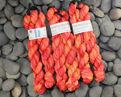 Sunshine & Fuschia Double Major Targhee Sport Sock Yarn