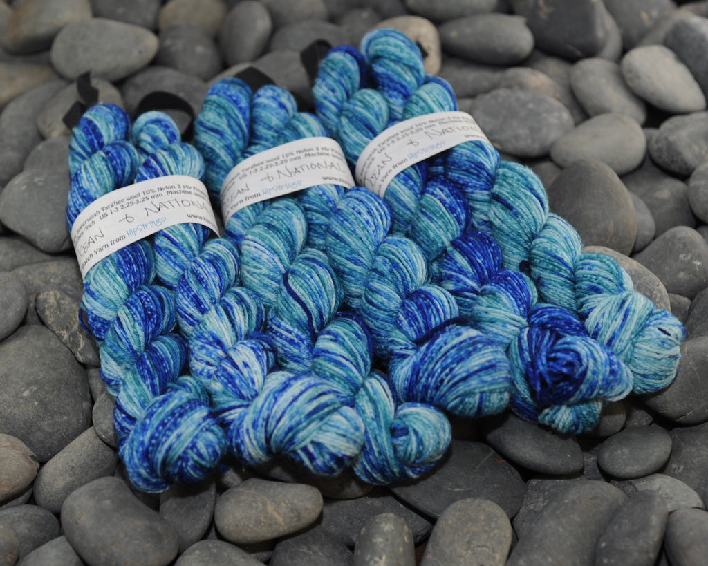 Double Minor SW Targhee Nylon Sock Yarn - Ocean and National - 100g