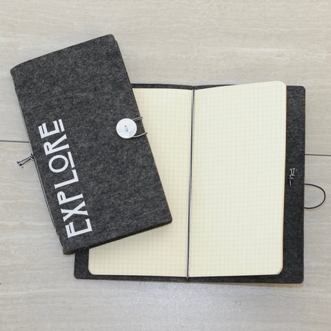 Felt Traveller's Notebook - Explore!