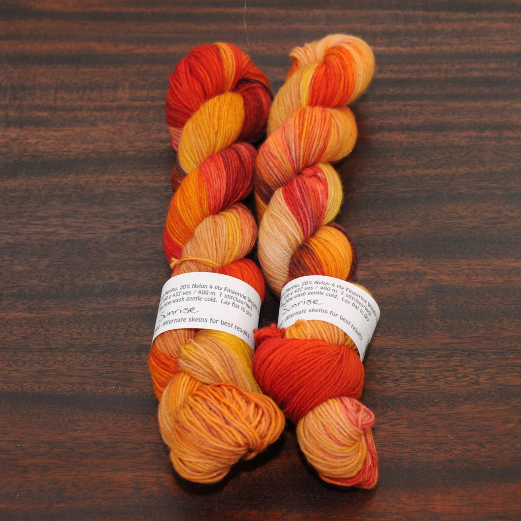 Sunrise on Gab Made Merino Nylon Sock - 100g