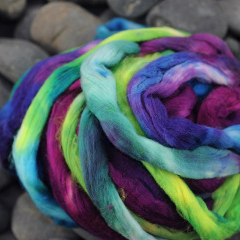 "Hand Dyed Cotton Sliver ""Exquisite Joys"" - 2 oz"