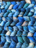 Convergence on Hand Dyed Superfine Merino/Silk Combed Top - 4 oz