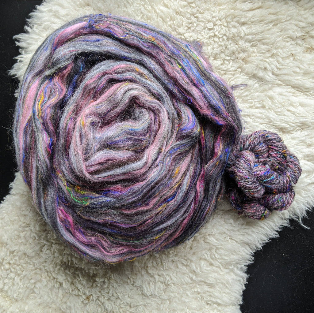 Neon at Noon Pittsburgh Signature Blend (Merino Shetland Bamboo Silk) 4 oz
