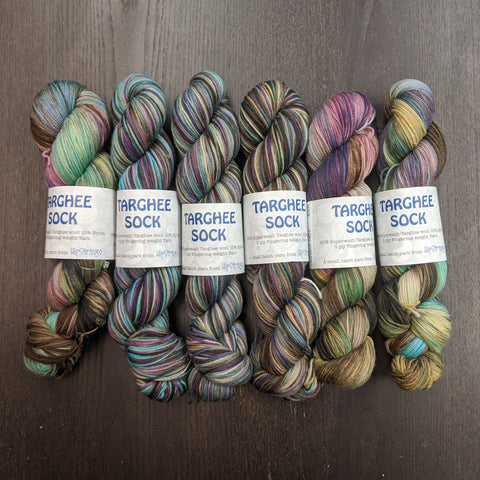 Lost at Sea SW Targhee Nylon Sock Yarn - 100g