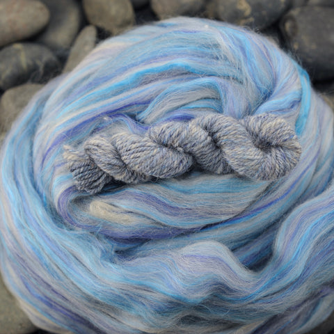 Moonstone Merino Alpaca Bamboo Mulberry Silk Custom Blended Top - 4 oz