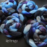 Well on Hand Dyed Superwash Targhee Wool Combed Top- 4 oz