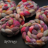 It's Complicated on Hand Dyed Targhee/Bamboo/Silk Combed Top - 4 oz