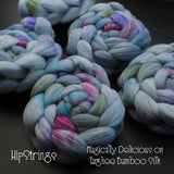 Magically Delicious on Hand Dyed Targhee/Bamboo/Silk Combed Top - 4 oz