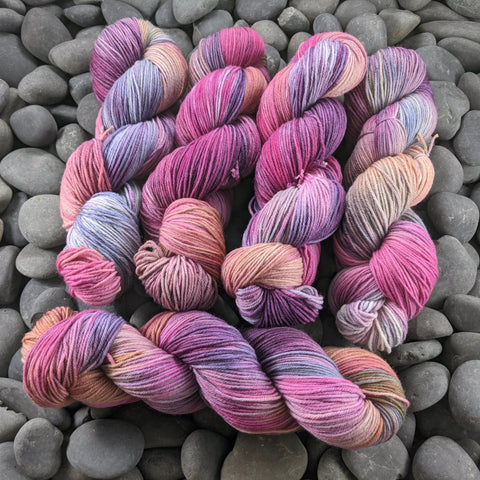 It's Complicated on Hand Dyed SW Targhee Nylon Sport Yarn - 100 g