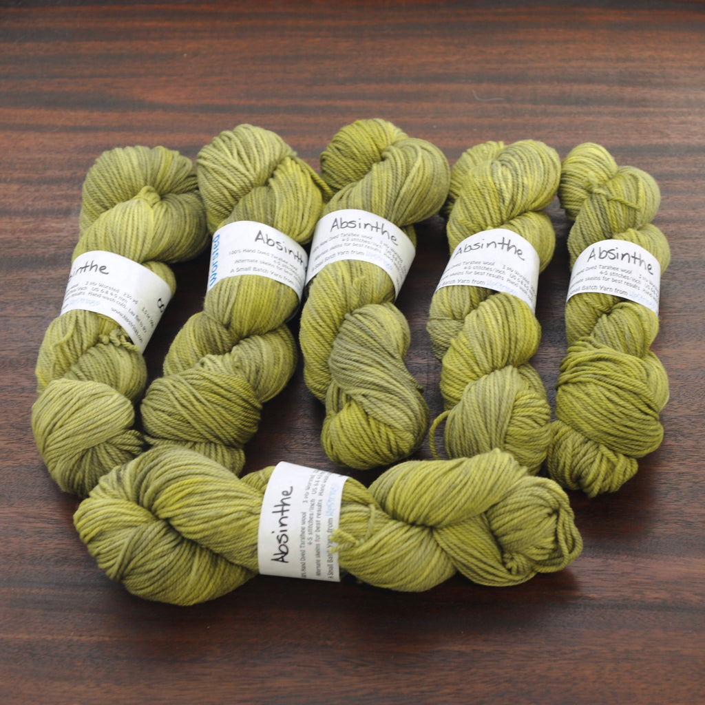 Absinthe on Targhee Worsted