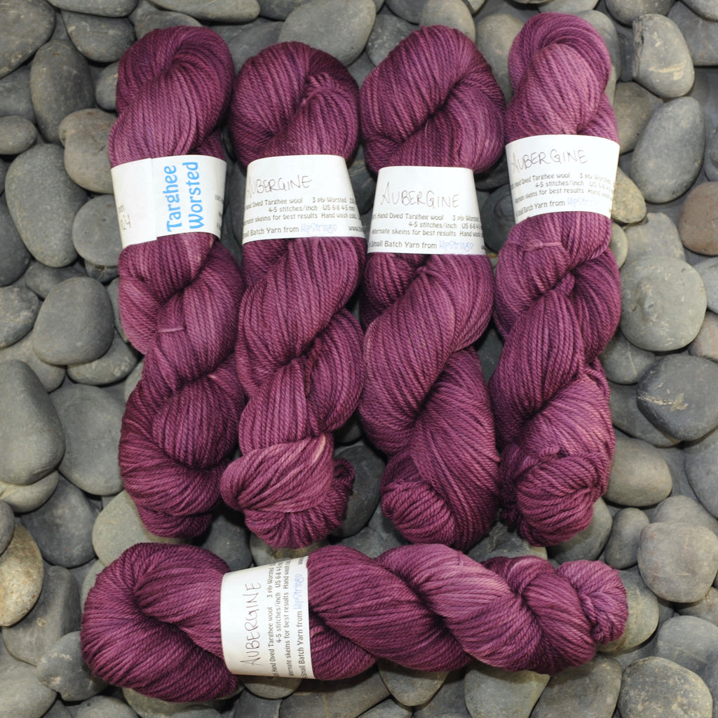 Aubergine on Targhee Worsted