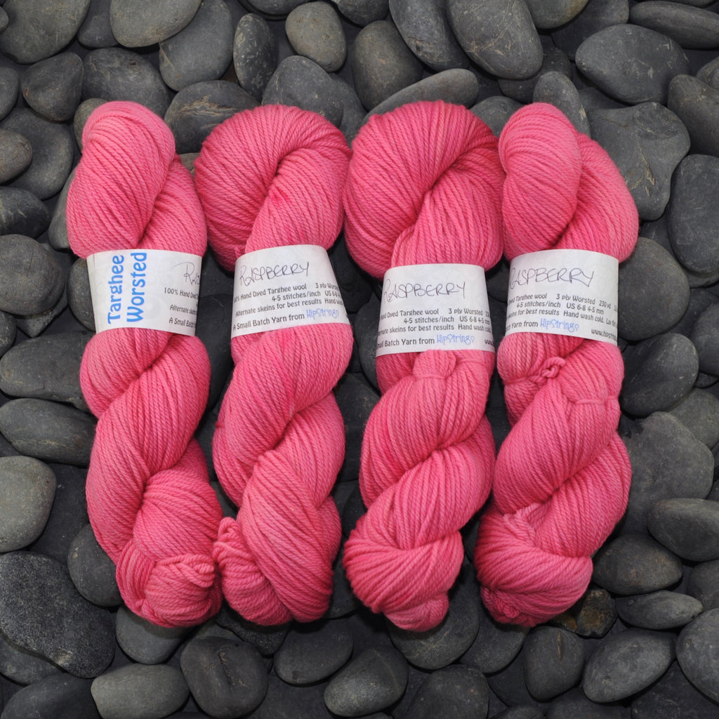 Raspberry on Targhee Worsted