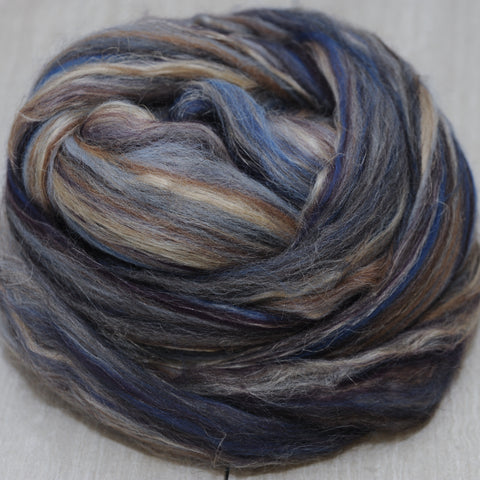 The Oncoming Storm Shetland Manx Tussah Flax Signature Blend - 4 oz