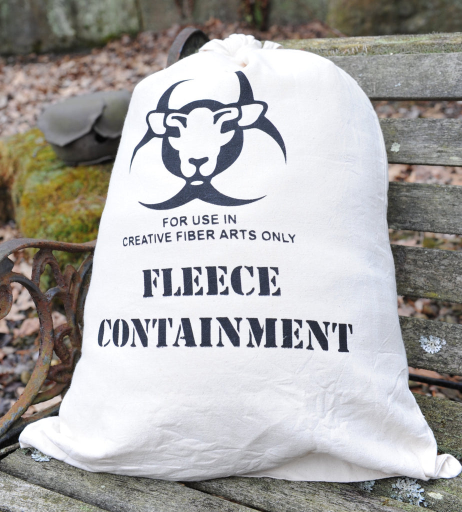 "Fleece Canvas Storage Drawstring Bag ""Containment"""