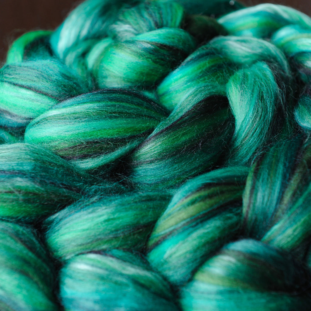 Malachite Merino Bamboo Silk Custom Blended Top - 4 oz
