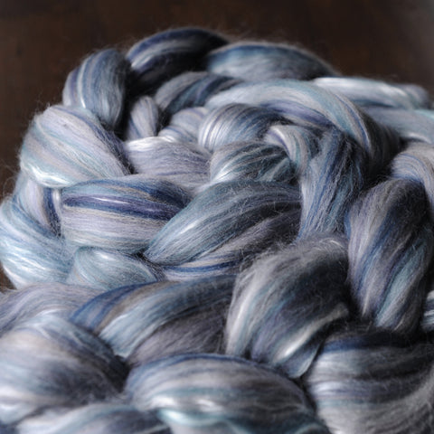 Blue Heron Merino Mulberry Silk Custom Blended Top - 4 oz