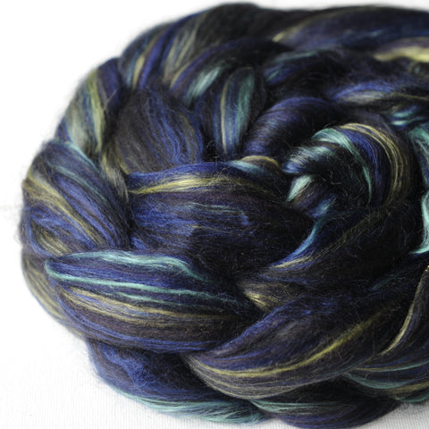 Black Opal Merino Alpaca Bamboo Silk Custom Blended Top