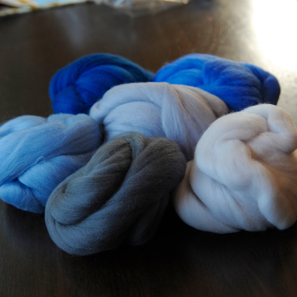 Skies over Pittsburgh Merino Palette - 6 oz