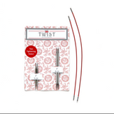 "Chiaogoo TWIST Shorties Interchangeable Knitting Needles - 2"" & 3"" Tips"