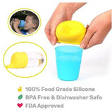 1 PC 100% Food Grade Silicone BPA FREE, FDA Approved - Sippy Lids for Baby Drinking.  Sippy Makes Drinks Spill proof, Reusable, Durable