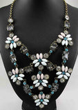 Bib Chunky Statement Multi Colored Crystal Necklace