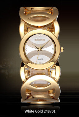 Fashion Watches - WEIQIN Brand Luxury Crystal Gold Watches For Women Fashion Bracelet