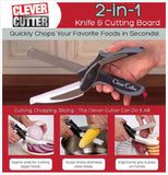 Kitchen Knives - Clever Cutter 2 In 1 Knife & Cutting Board Scissors