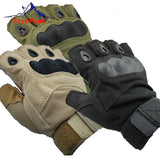 Outdoor Equipement - Outdoor Sports Finger Less Glove Military Tactical Airsoft Hunting Bike Gloves Half Finger Gloves