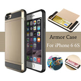 Phone Bags & Cases - Hot Sale Hybrid Luxury Dual Layer Credit Card Pocket Back Cover For Iphone 6 6S