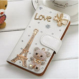 Phone Bags & Cases - Luxury Amazing Designs With Rhinestone Litchi Leather Case For Samsung GalaxyS7 & S7 Edge
