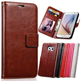 Phone Bags & Cases - Luxury Wallet Leather Case For Samsung Galaxy S6 S6 Edge Stand Style Case