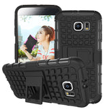 Phone Bags & Cases - Samsung Galaxy S6 Case G9200 Heavy Duty Armor Kickstand Hybird Hard Soft Rugged Rubber Case