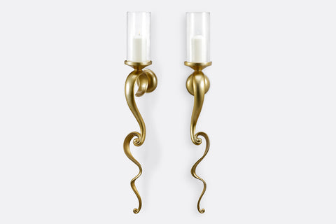 Pair of Scroll Wall Candleholders