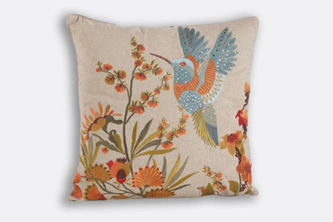 Hummingbird In Flight Pillow