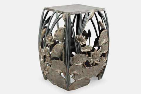 Water Lilies Garden Stool and Accent Table