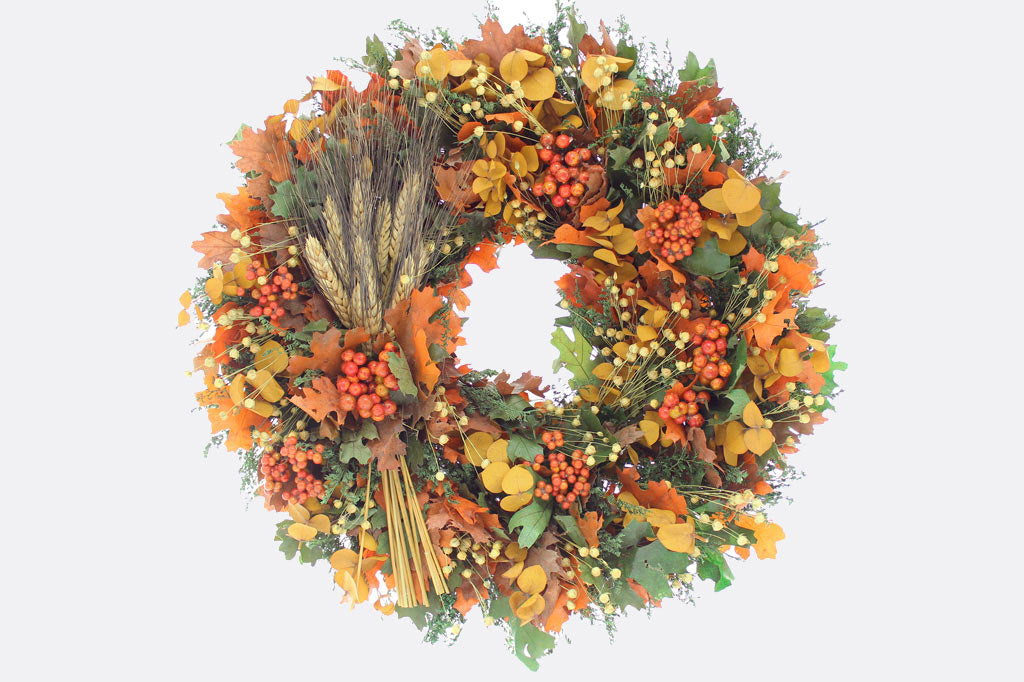 "Couleurs de Récolte 18"" Wreath"