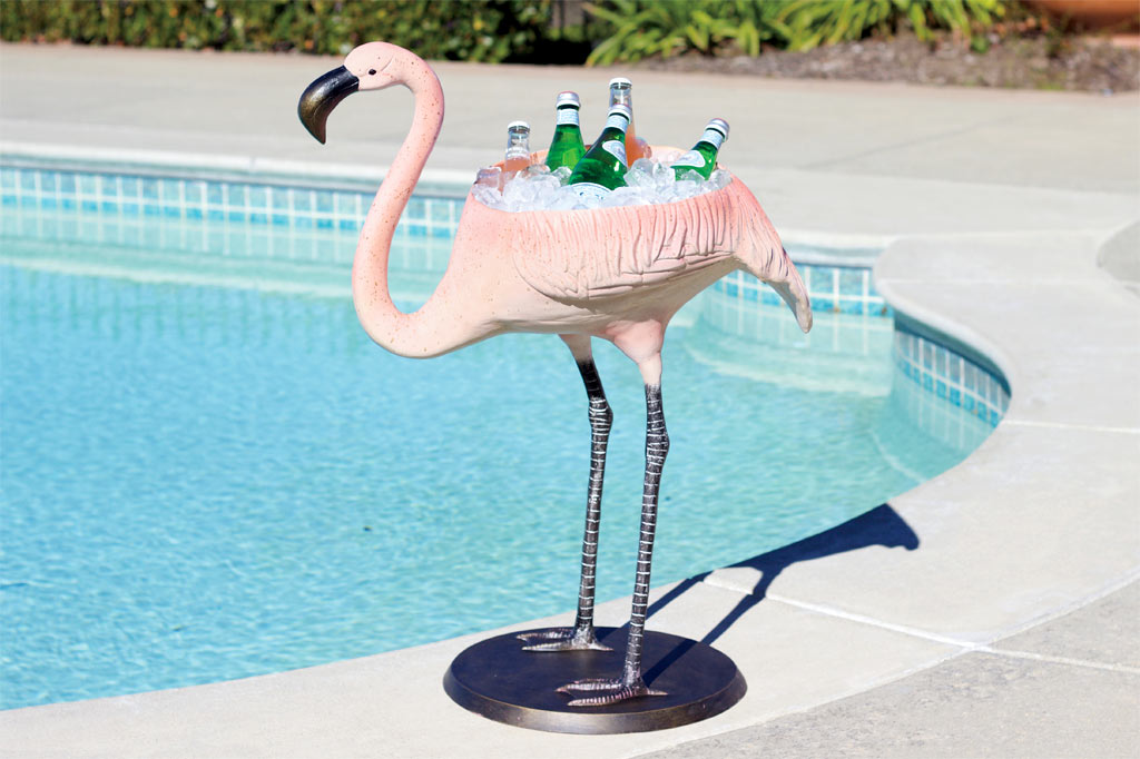 Festive Flamingo Planter & Beverage Tub
